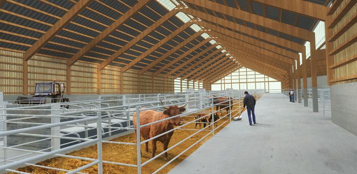 B timent d levage exp rimental laqueuille 63 fabriques for Plan de batiment agricole